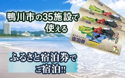 鴨川市内 35の施設でご利用可能な宿泊券 3枚(3万円相当)
