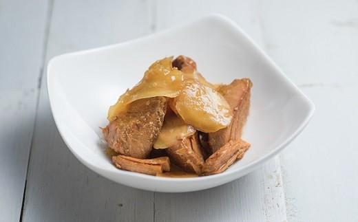 ◆カツオの和だし生姜煮こごり風です。黒潮町産の黒糖や高知県産の生姜をふんだんに使っています。ごはんや日本酒にとても合う一品です。