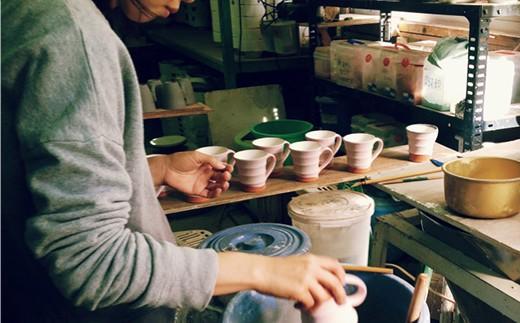 SB38 【波佐見焼】モダン苺グリーン 茶碗&コップセット【ROXY】-5