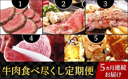 【5ヶ月連続お届け】牛肉食べ尽くし定期便