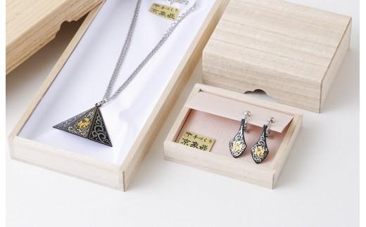 京象嵌鳳凰ネックレス/イヤリングセット