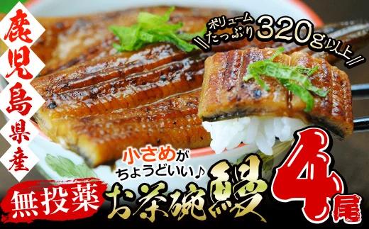 a5-119 【復活・志布志産】お手軽 お茶碗鰻 4尾