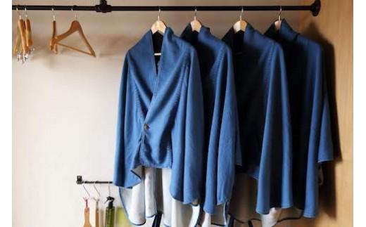 デニム製のオリジナル丹前を羽織ってちょっとお出かけ