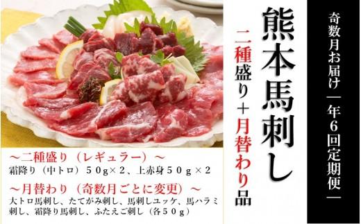 【純国産】スライス馬刺し定期便 6ヶ月(奇数月お届け)コース