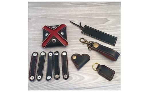 ランドセルで作った小物6種セット 黒【1084183】