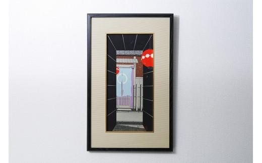 手摺り木版画【加藤晃秀】 「雪路地」