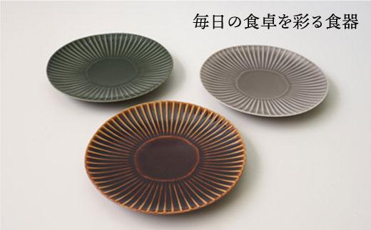 CC19 【波佐見焼】しのぎ 中皿 3colors 3枚セット【一龍陶苑】-2