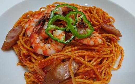 贅沢に、大きな【車えび】入りスパゲッティ!