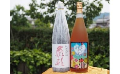 【ギフト用】<純米大吟醸>飛形<尽空梅酒>恋空【1.8L】2本セット(ギフト対応)