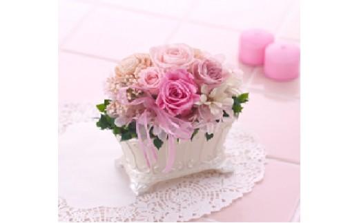 福山市の市花であるばらのプリザーブドフラワーをお送りします