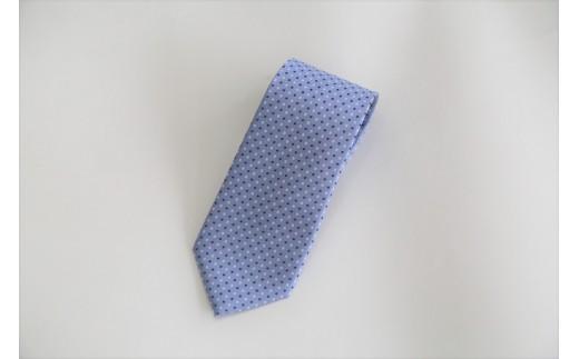 【西陣活性化を応援!】シルク100%西陣織ネクタイ(ドット(水色))