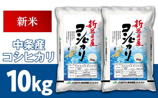 23-A1新潟県中条産コシヒカリ10kg(5kg×2袋)