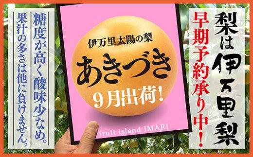 B119初物!伊万里梨9月出荷「あきづき」(5kg)