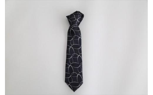 【西陣活性化を応援!】シルク100%西陣織ネクタイ(植物様柄・白線)