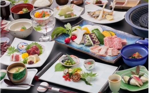 <食事>夕食‗季節の会席一例