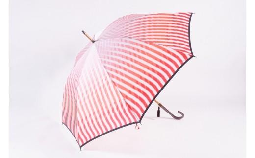高級雨傘【赤富士と水】