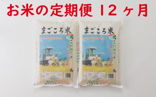 新米予約【定期便12ヶ月】840P9001 秋田県特別栽培米あきたこまち「まごころ米」10kg