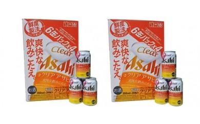 アサヒビール四国工場製造「クリアアサヒ」(2ケース)