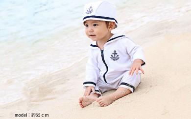 [№5720-0126]赤ちゃんのための UVカットマリンスイムウエア&キャップ