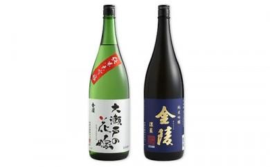 金陵 純米大吟醸 「大瀬戸の花嫁」 1.8L、金陵 純米吟醸 「濃藍」 1.8L 2本入りセット