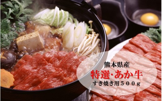 【熊本県産】肥後のあか牛(特選・すき焼き用500g)