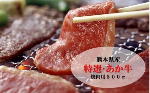 【熊本県産】肥後のあか牛(特選・焼肉用500g)