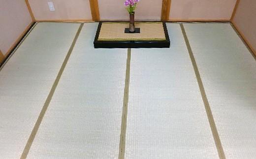 4.5帖 上敷き 4枚つなぎ 江戸間 261cm×261cm 畳表 い草