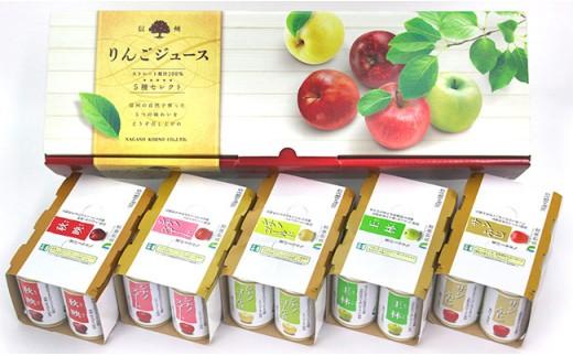 J0237信州りんごジュース5種セレクト 160g×6本×5品種 計30本入
