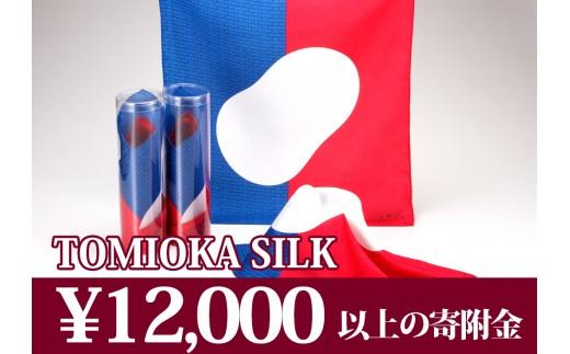 【純国産高級シルク100%】富岡シルク ポケットチーフ トリコロール