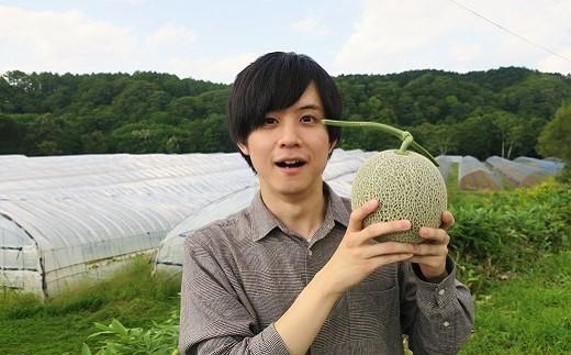 極上の一品「日原メロン(レッド種)」(1.8kg相当×1玉)