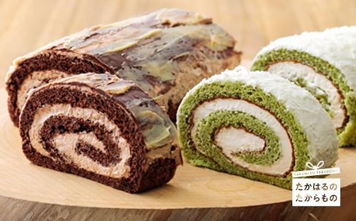 特産品番号113 生チョコロールと抹茶のロールケーキ