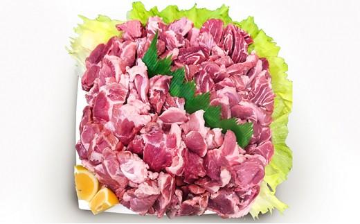 [№5541-0082]徳島県阿波市産 豚肉(ほほ肉・焼肉用)約4kg