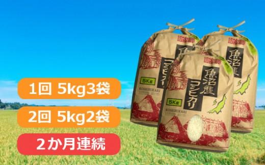 魚沼産コシヒカリ25kg(1回目15kg、2回目10kg)