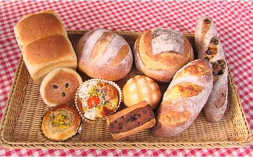 <国産小麦と天然酵母100%!>だるまのこだわりパン詰め合わせ(10個入)【1071607】
