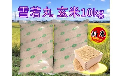 A01-080 特別栽培米 雪若丸玄米10kg