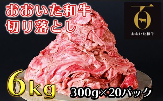 I2001 おおいた和牛切り落とし6kg(300g×20p)【匠牧場】※真空パック
