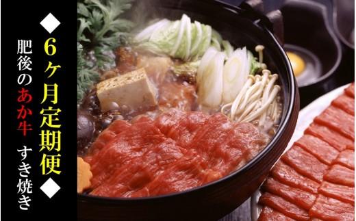 ◆6ヶ月定期便◆熊本県産 肥後のあか牛(すき焼き用500g×6)
