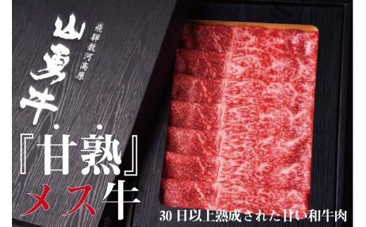 飛騨牛 熟成肉『山勇牛』 外もも すき焼き用 500g 牛肉 和牛[E0016]