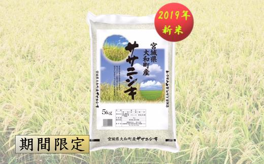【04421-0060】【2019年新米】大和町産  ササニシキ  12kg