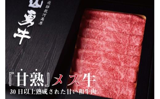 飛騨牛 リブロース すき焼き用 熟成肉『山勇牛』500g 牛肉 和牛[G0006]