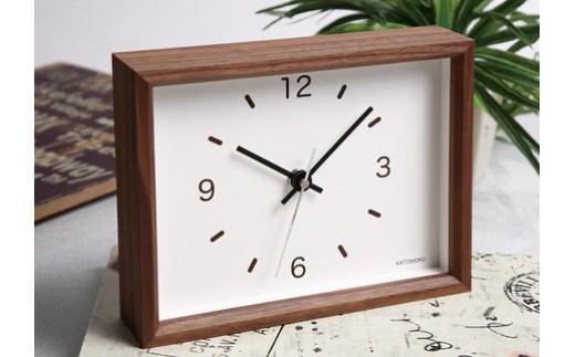 【A-41】KATOMOKU 少し小さな木枠時計