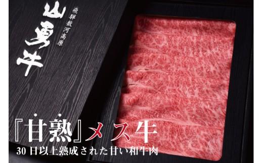 飛騨牛 熟成肉『山勇牛』 肩ロース しゃぶしゃぶ用 500g 牛肉 和牛[F0024n]