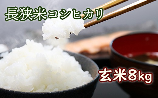 1-86 長狭米コシヒカリ玄米8㎏(精米に変更可)