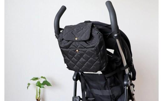 ベビーカーバッグとしても使えます〈色:ブラック〉