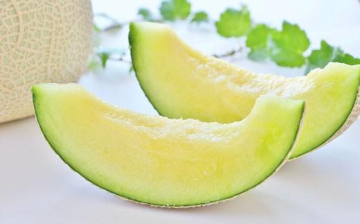 【令和2年度 先行予約分】高糖度 八代産肥後グリーンメロン 2Lサイズ以上 4~5玉 化粧箱入