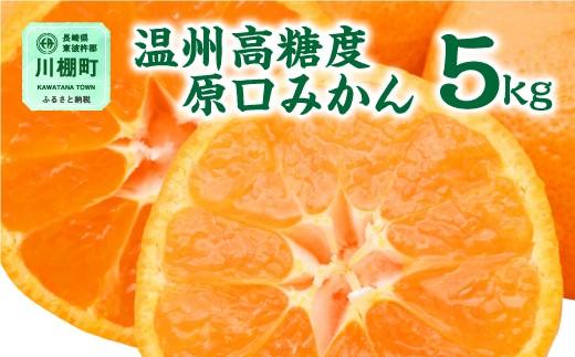 長崎ぶんたんの会「温州高糖度原口みかん」 5kg