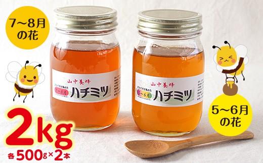 ◇【自然のまま】富津産ハチミツ食べ比べ500g×4本