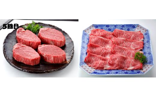 【6回目】伊万里牛ヒレステ-キ400g(4枚)、ロ-スうすぎり600g(ブラックペッパー付)