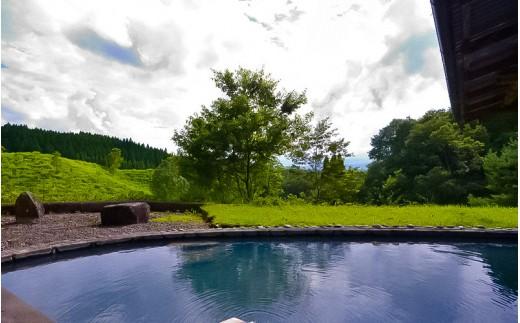 ◆【扇温泉】阿蘇の山々を望む宿 おおぎ荘<露天付き離れ>ペア宿泊券