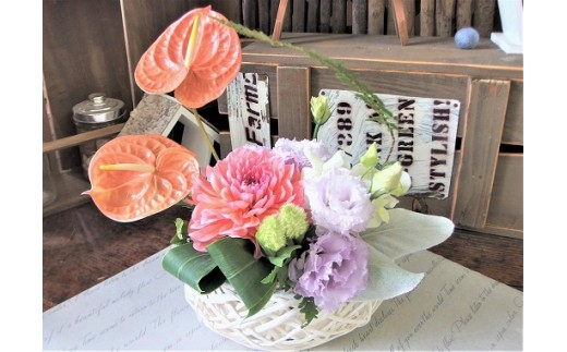 1年間毎月お花を楽しめる季節のアレンジメント 12ヶ月連続